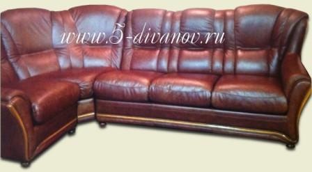 Перетяжка углового дивана - После